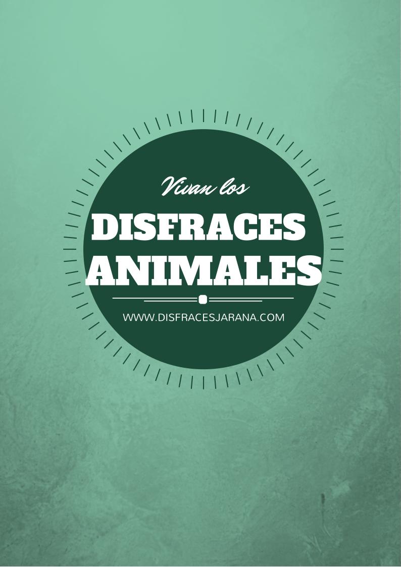 Disfraces Animales
