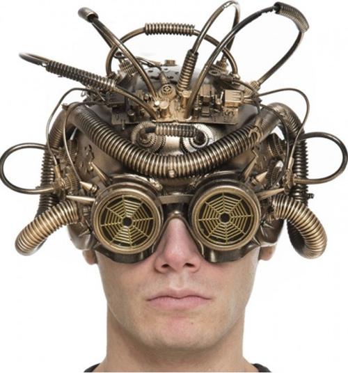 casco steampunk