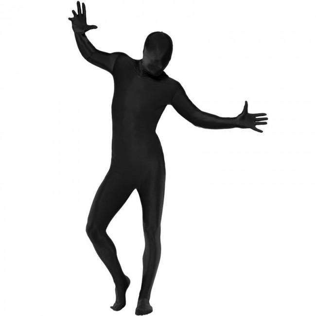 disfraz zentai negro
