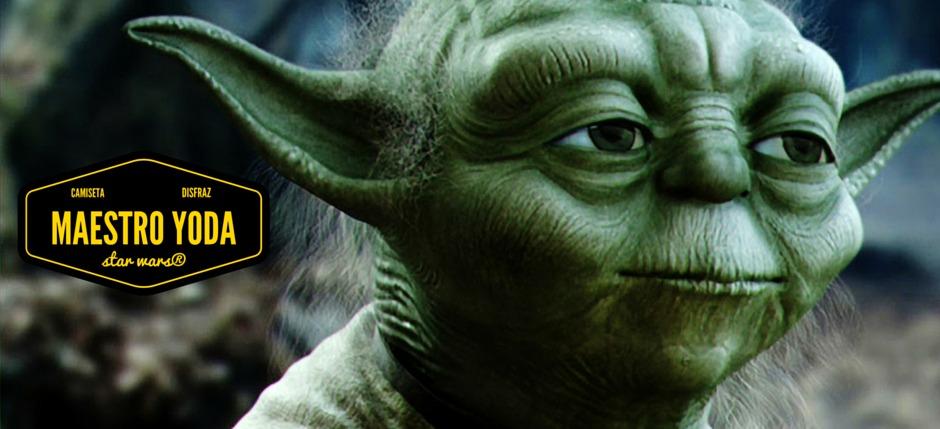 Disfrazarse de Maestro Yoda con una simple camiseta