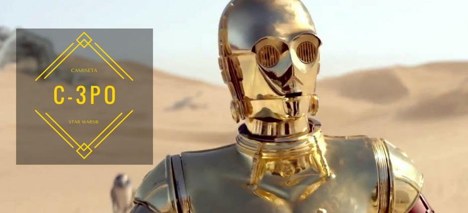 Camiseta para disfrazarse de C-3PO