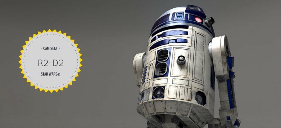 Disfrazarse de R2-D2 con una simple camiseta