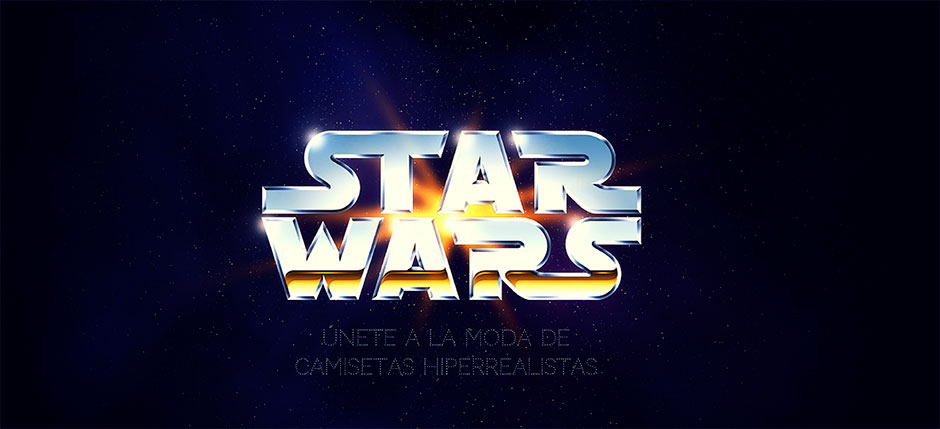 camisetas 3D star wars
