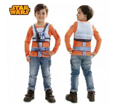 disfraz camiseta realista luke skywalker para niño