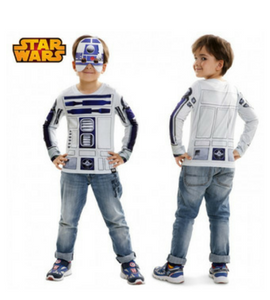 disfraz camiseta infantil realista r2-d2