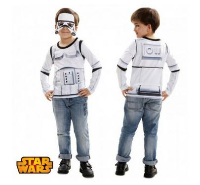 disfraz camiseta para niño soldado imperial