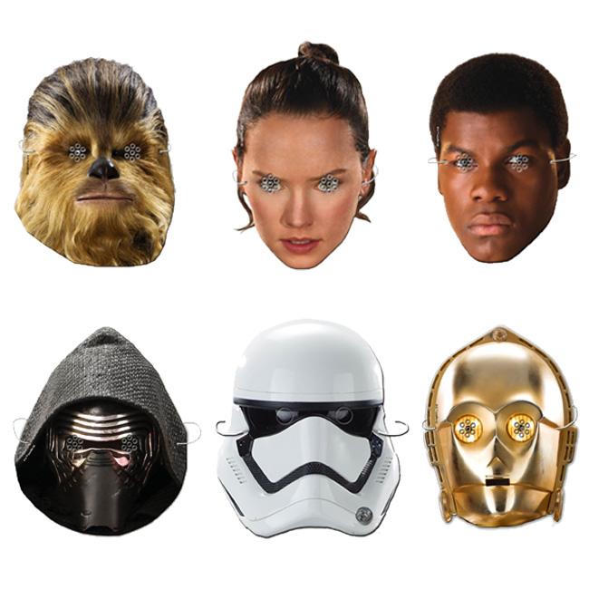 Máscaras personajes star wars