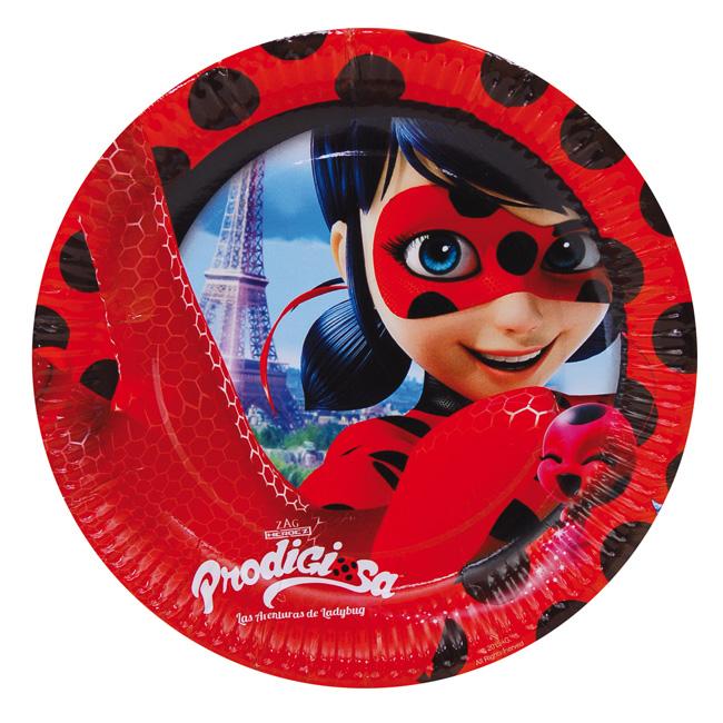 Platos grandes cumpleaños ladybug