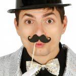 bigote con palito para photocall