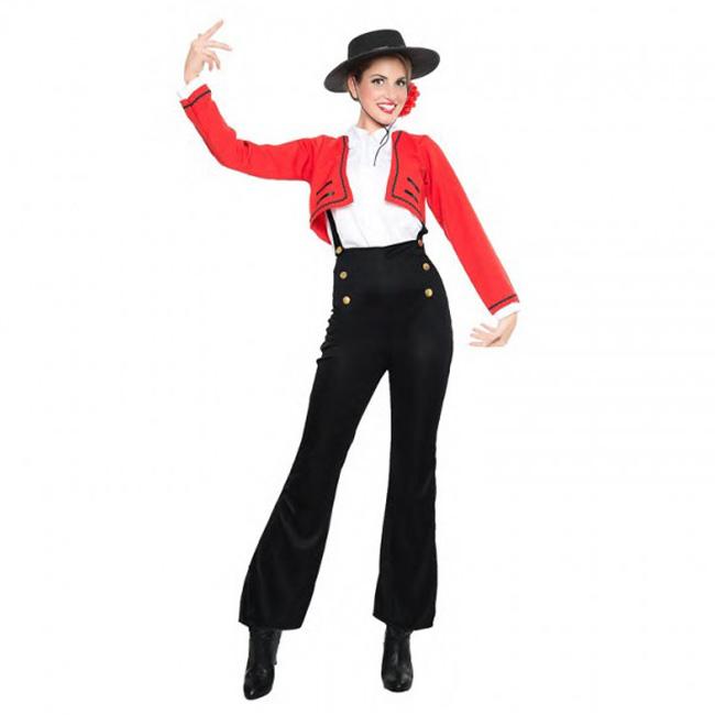 Disfraz de flamenca para mujer con pantalón