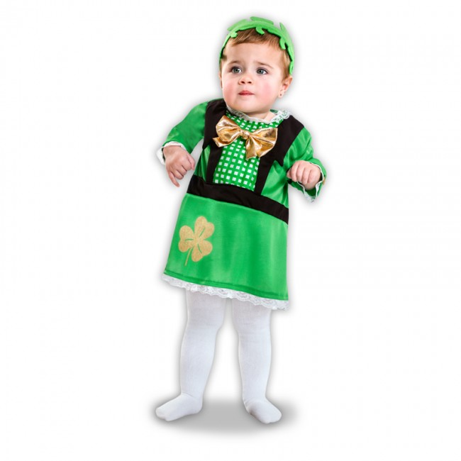 Disfraz de san patricio para bebé niña