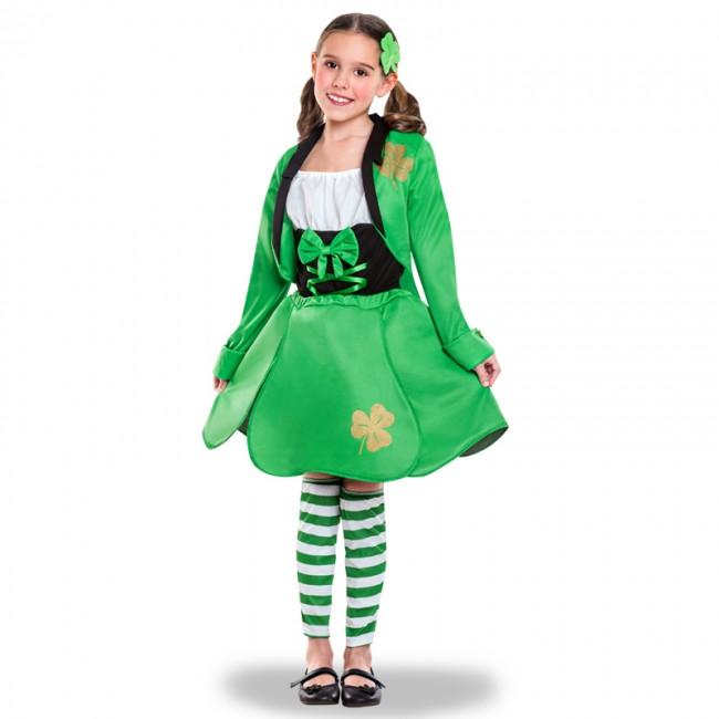 Disfraz de san patricio para niña