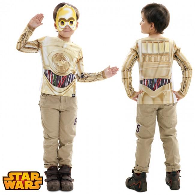 Camiseta hiperrealista C3PO infantil
