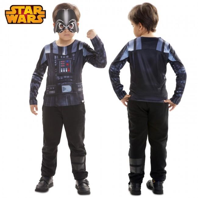 Camiseta hiperrealista Darth Vader infantil