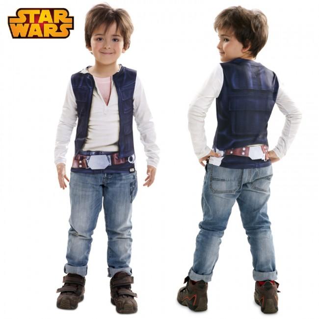 Camiseta hiperrealista Han Solo infantil