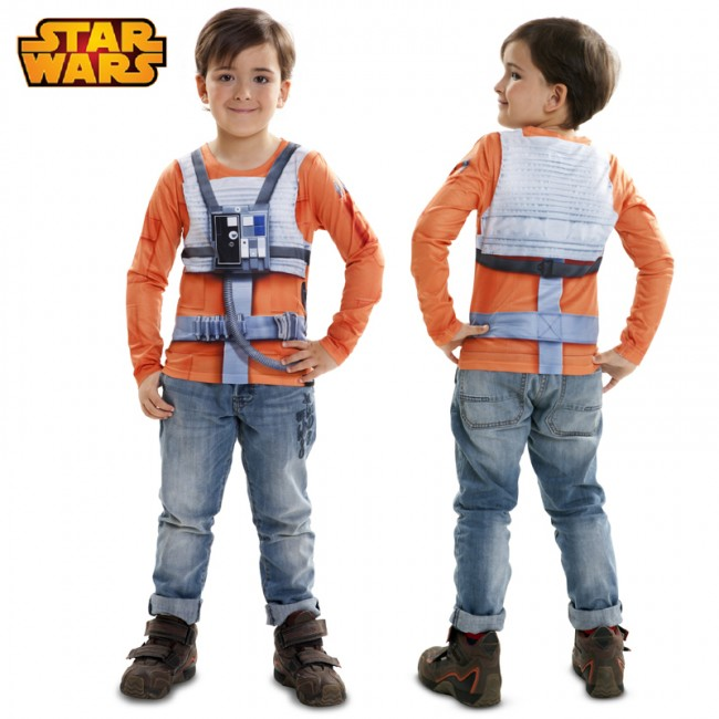 Camiseta hiperrealista Luke Skywalker infantil