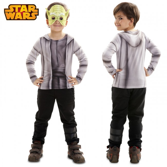 Camiseta hiperrealista Maestro Yoda infantil