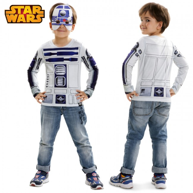 Camiseta hiperrealista R2D2 infantil