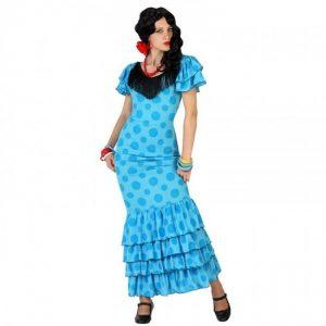 disfraz sevillana azul