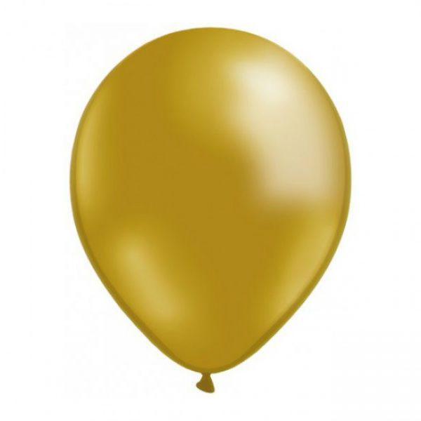 Globos cumpleaños dorados