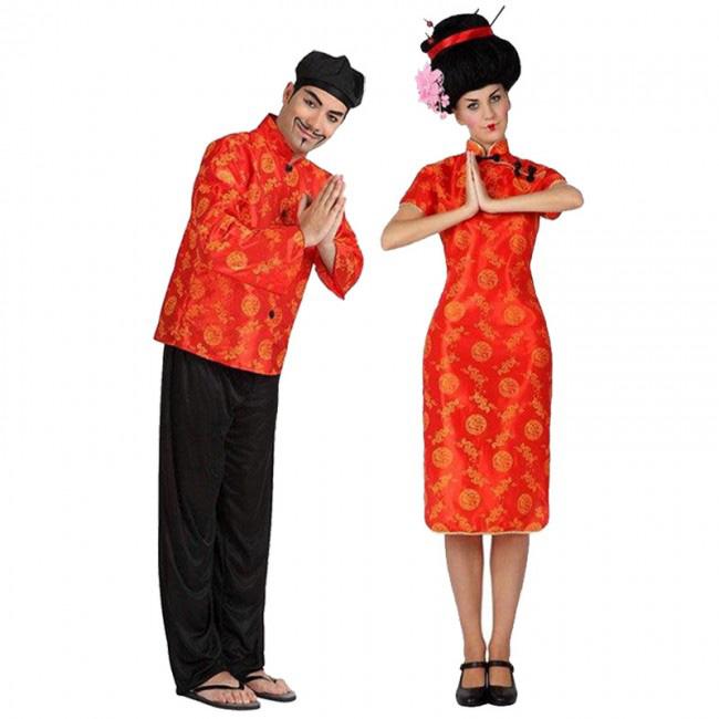 disfraces de chinos rojos para parejas