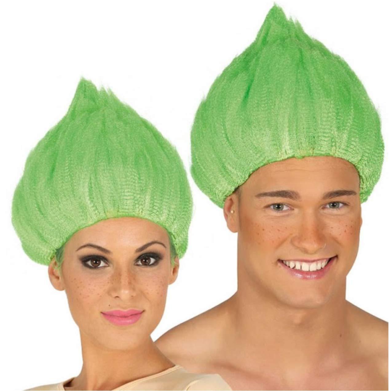 peluca troll verde