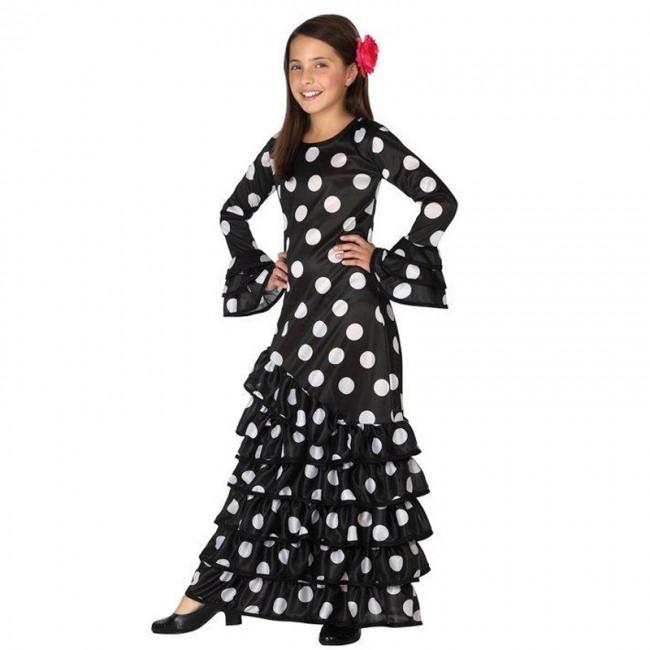 Disfraz de sevillana para niña negro