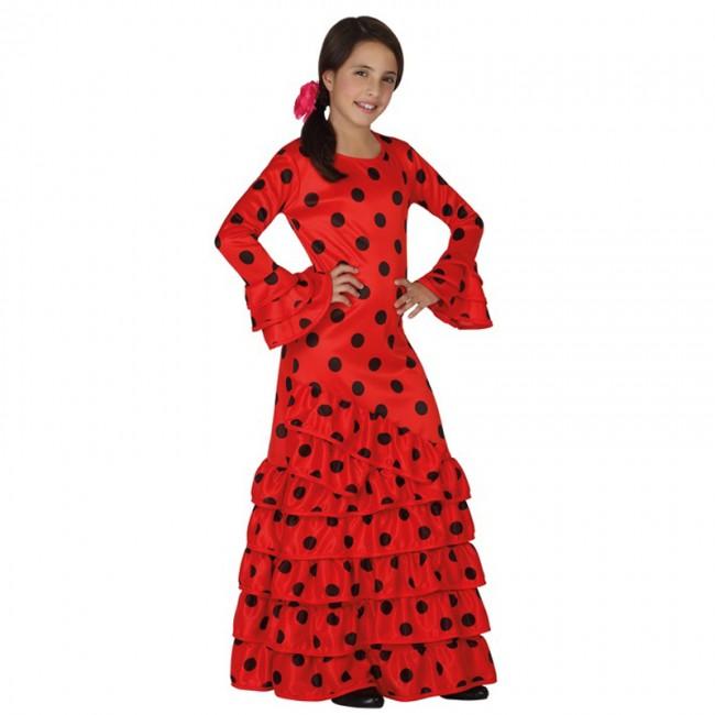 Disfraz de sevillana para niña rojo