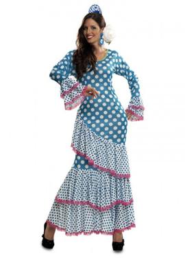compra el disfraz mujer flamenca color azul