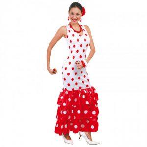 Disfraz de sevillana para mujer rojo