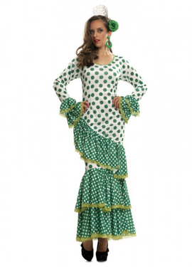Disfraz de sevillana para mujer verde