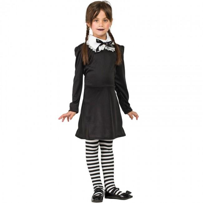 Disfraz de Miércoles Addams para niña