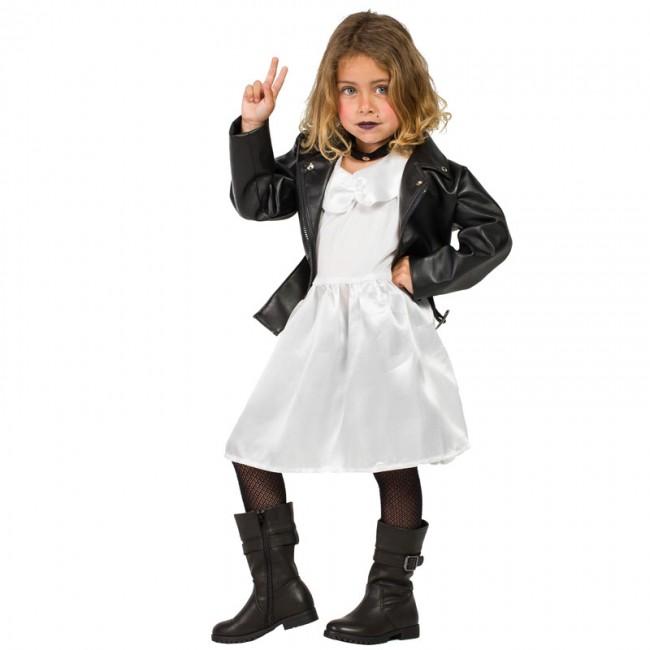 Disfraz de Tiffany novia de Chucky niña