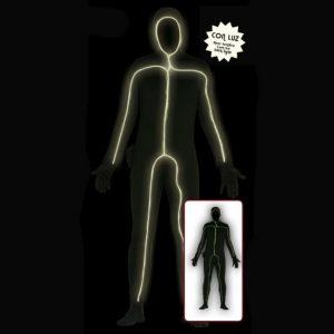 disfraz segunda piel para adulto con luz