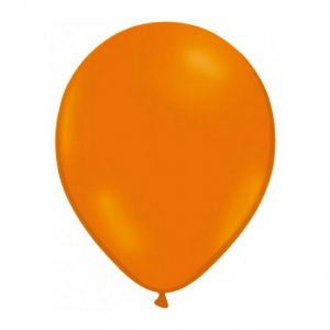 globos de color naranja