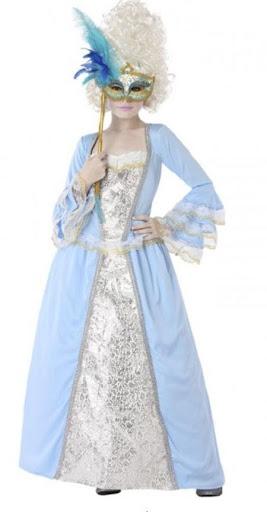 disfraz veneciano azul