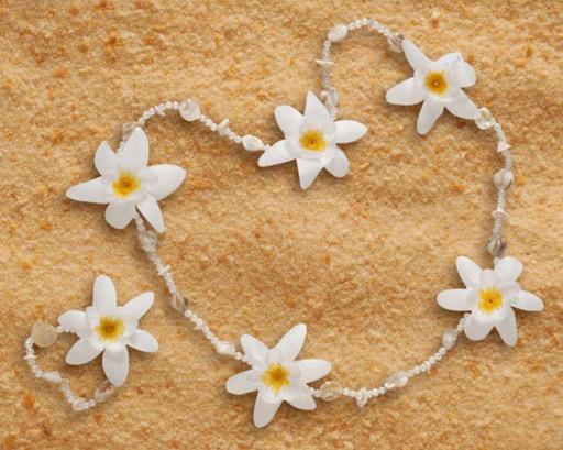 collar y pulsera de flores