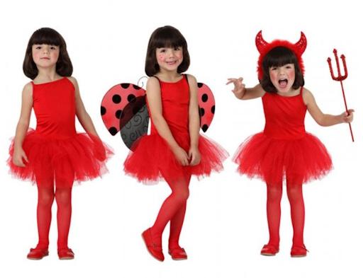 disfraz bailarina y diablesa rojo