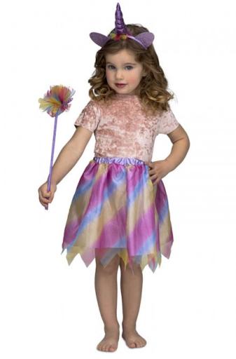 disfraz unicornio morado niña