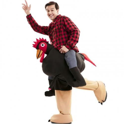 disfraz gallo exhibicionista hombros