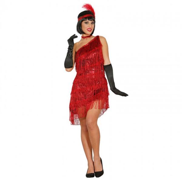 disfraz mujer charleston rojo