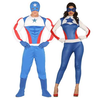 pareja disfraz capitán america