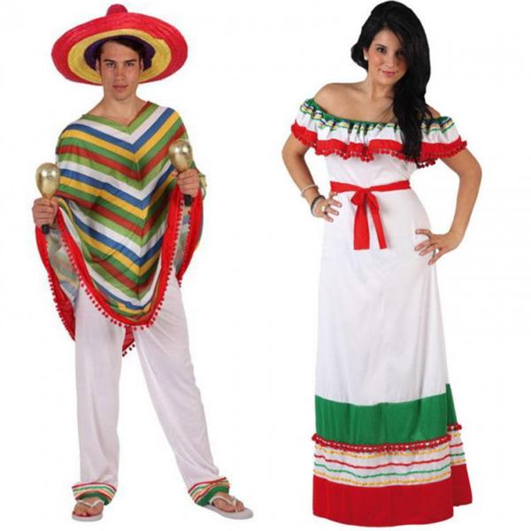 pareja disfraces mexicanos