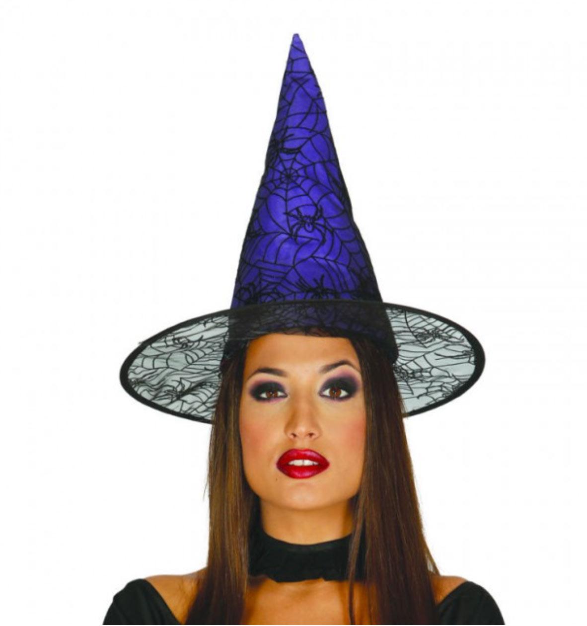 sombrero de bruja lila