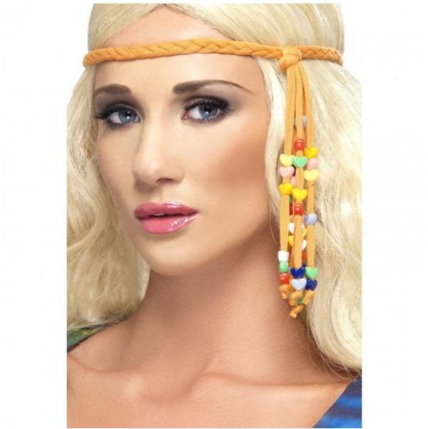 cinta de pelo hippie años 60