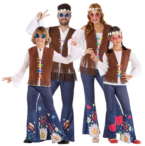 disfraz de hippie con ropa normal