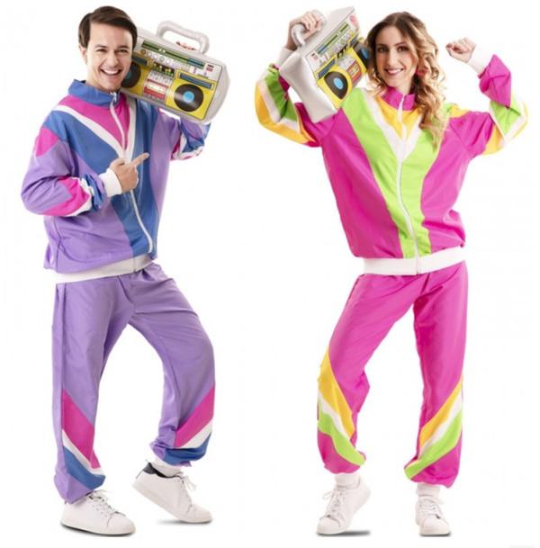 disfraz chándal pareja años 80