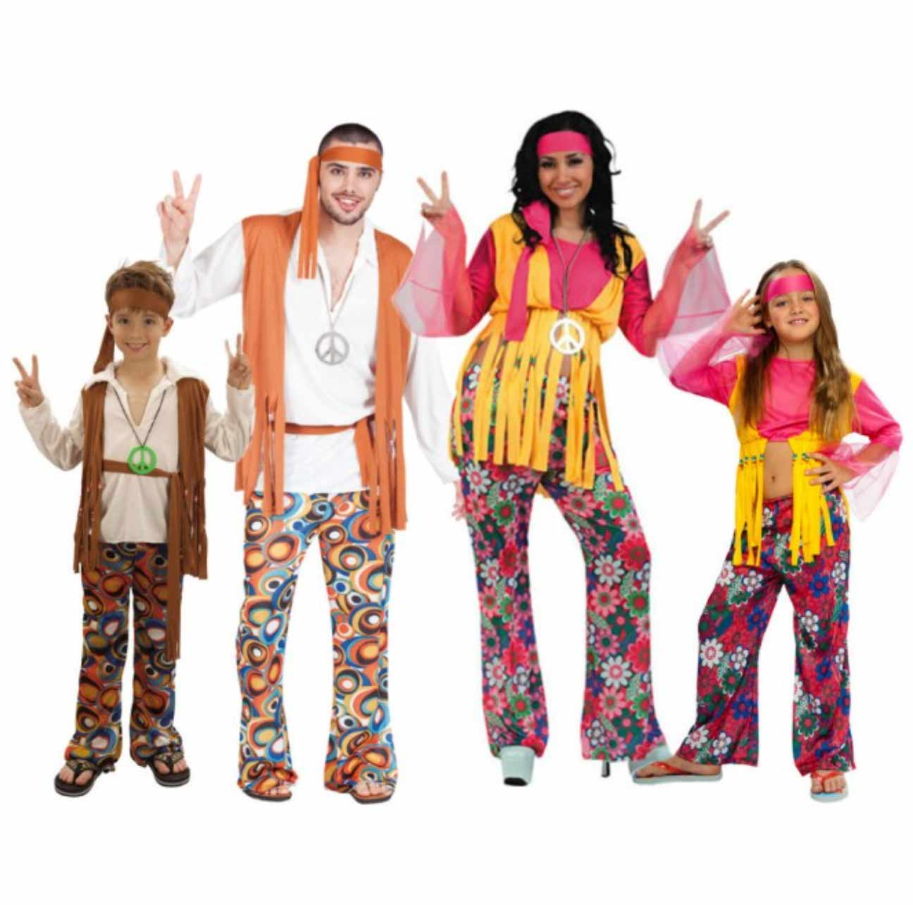 disfraces hippies económicos