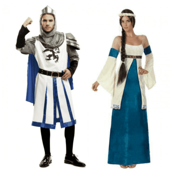 disfraces medievales azules