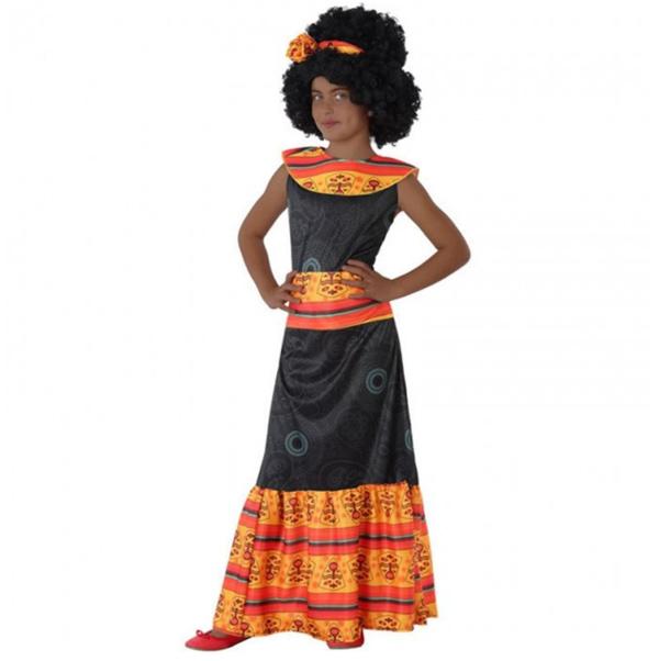disfraz africana niña